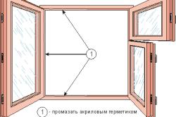 Схема рамы деревянного окна