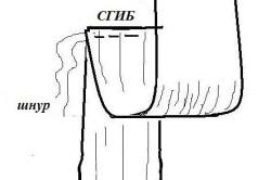 Схема изготовления рукава шторы