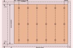 Выкройка полотна ролл шторы