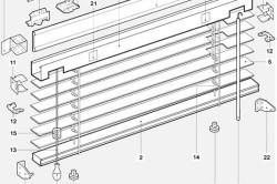 Перечень комплектующих для горизонтальных деревянных и бамбуковых жалюзи