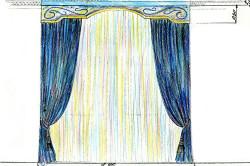 как рисовать эскизы штор
