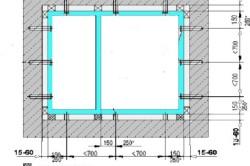 Схема месторасположения креплений