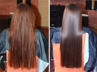 Ботокс волос до и после