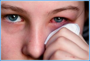 Попадание дихлофоса в глаза
