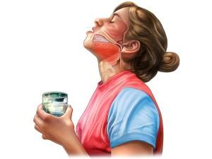 Полоскание рта при ожоге уксусной кислотой