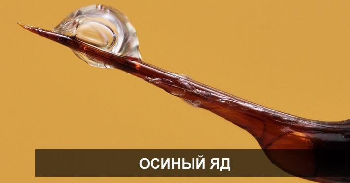 Яд осы имеет комбинированный состав